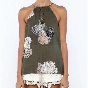LoveStitch Floral Tie top